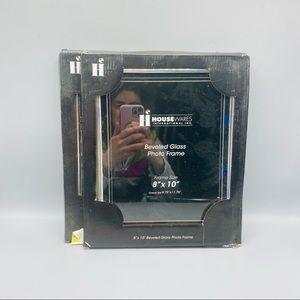 "8"" X 10"" Beveled Glass Photo Frame Set Of 2 NWT"